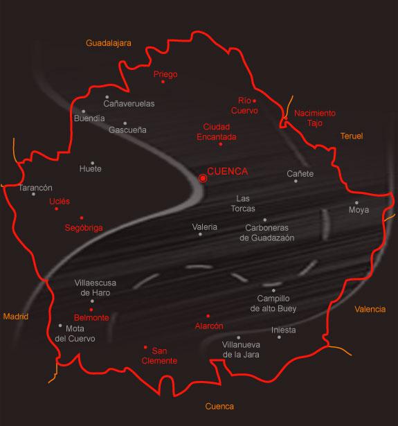mapa provincia ávila